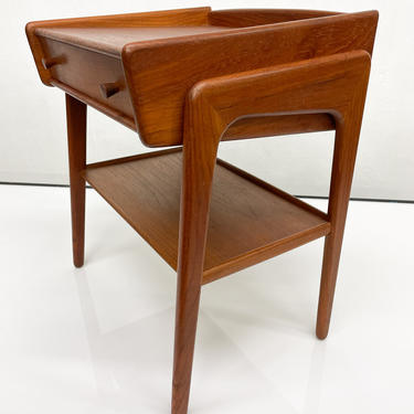 Entry Solid Teak Side Table by SV A. Madsen Karl Lindegaard by AMBIANIC
