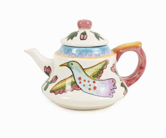 Judie Bomberger Small Ceramic Teapot by VintageInquisitor