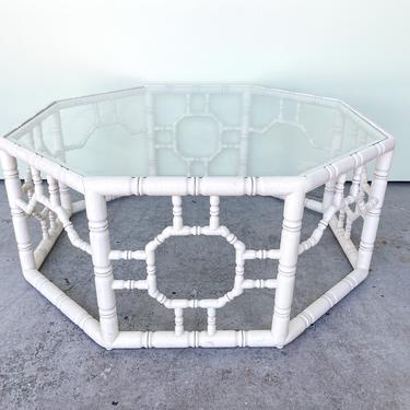 Faux Bamboo Octagon Coffee Table