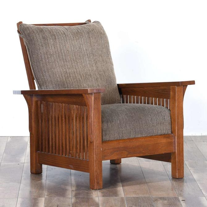 Large Craftsman Mission Style Recliner Armchair