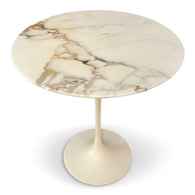 1960s Marble Top Side Table by Eero Saarinen for Knoll