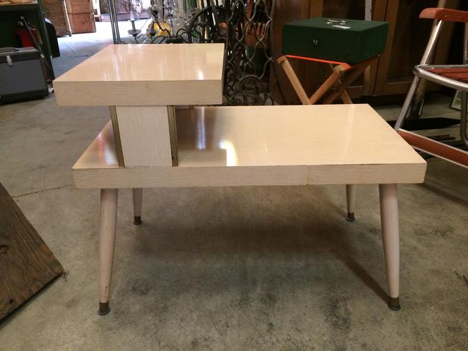 Mid Century End Table H22.25 x W28 x D15.75