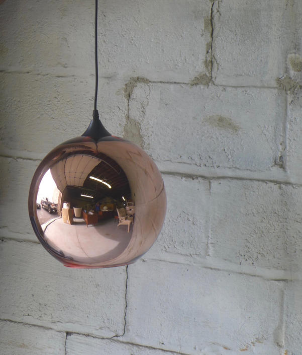 Mid Century MODERN styled Copper BALL pendant lamp by CIRCA60