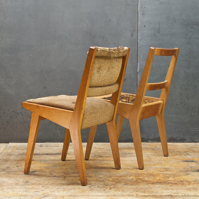 1950s Jens Risom Knoll Products 666 Side Chair Maple Vintage Mid-Century Upholstery Restoration Project by BrainWashington