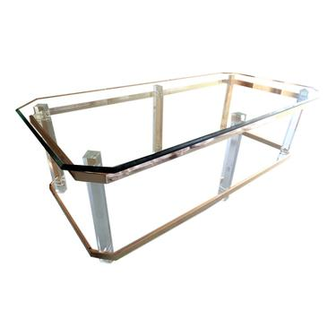 Lucite and Brass Coffee Table Charles Hollis Jones Attributed by VeronaVintageHome
