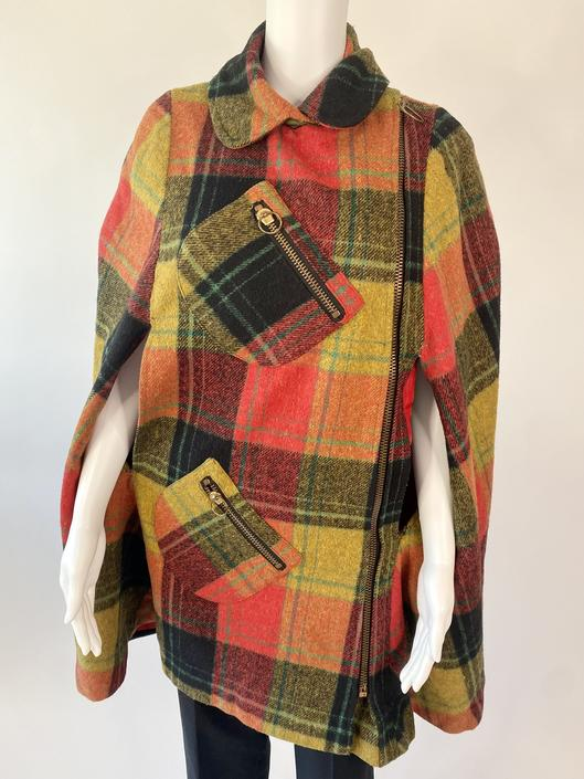 """""""Queen of the Capes"""" Red Tartan Wool Cape!"""