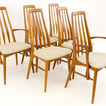 Niels Koefoed Hornslet Danish Teak Eva Mid Century Modern Dining Chairs - Set of 6 - mcm by ModernHill