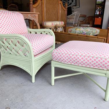 Palm Beach Mint Lounge and Chair Ottoman