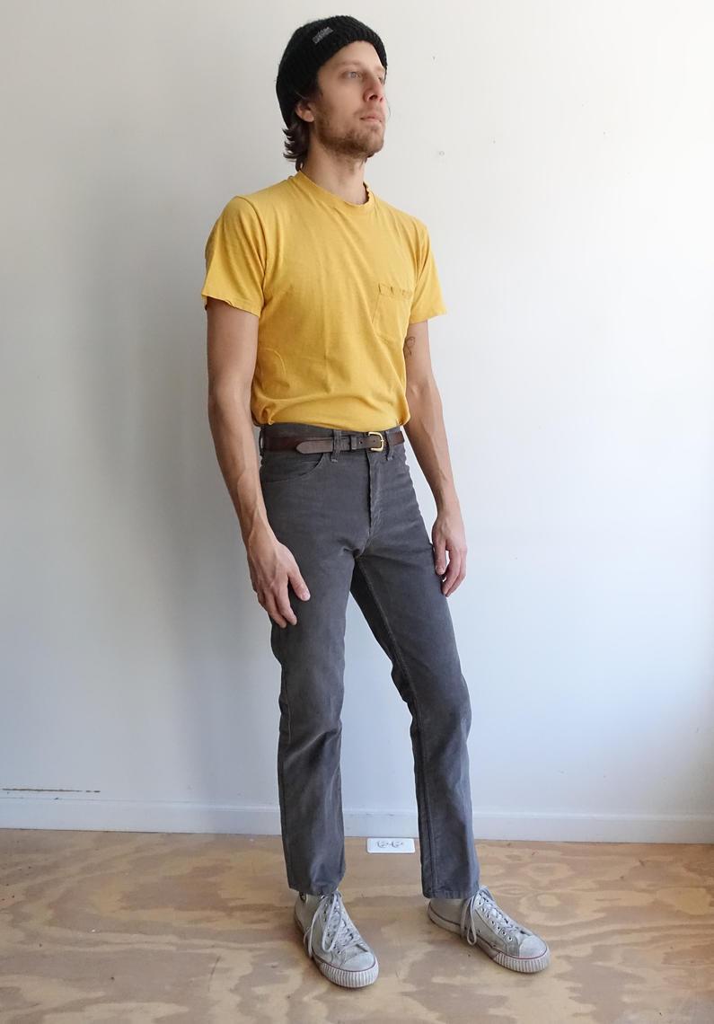 Vintage 80s Grey Corduroy Pants 1980s Pioneer Gap Cords