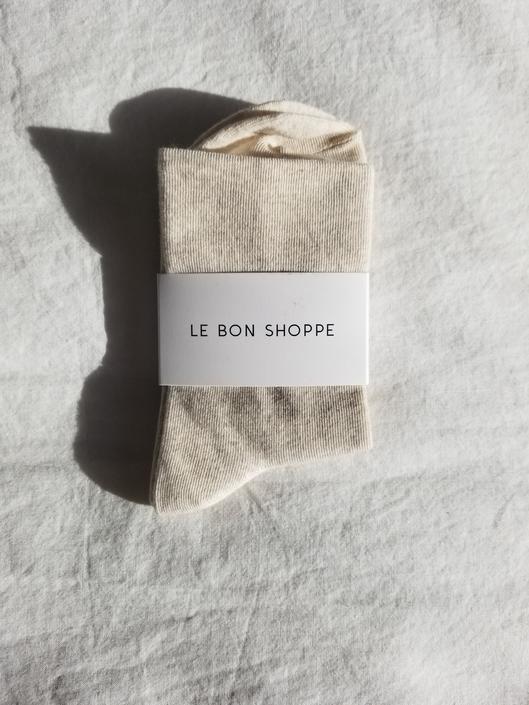 Le Bon Shoppe Sneaker Socks - Oatmeal