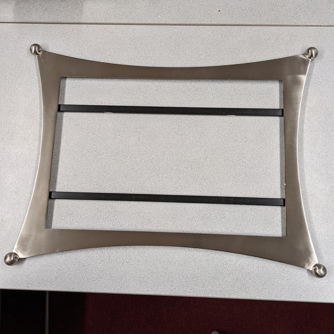Jasper Brushed Nickel Wall Mirror by Quoizel (Frame and Mirror)