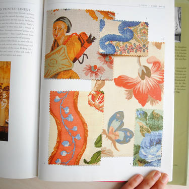 Vintage Classic Fabrics Book by Henrietta Spender-Churchill, History of Fabrics Book, Interior Design with Fabrics Book, Sewing Project Book by LittleDogVintage