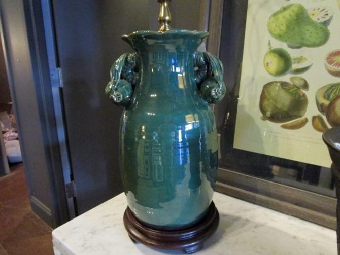 ASIAN GREEN GLAZED LAMP
