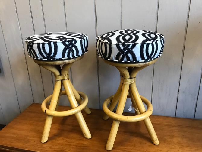 Pair of low swivel vintage stools by UrbanInteriorsBalt