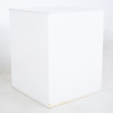 Mid Century Frosted Acrylic Cube Side End Table - mcm by ModernHill