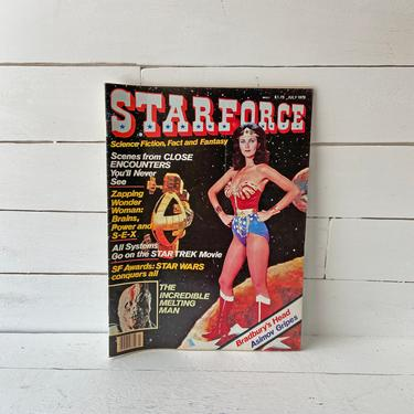 Vintage 1978 STARFORCE Magazine 1st Issue Sci-Fi Fantasy, Lynda Carter, Wonder Woman Cover // Wonder Woman Collector, Lover // Perfect Gift by CuriouslyCuratedShop