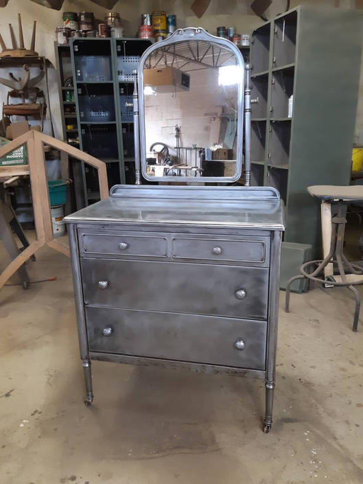 Simmons stripped steel chest of drawers by StateStreetSalvage
