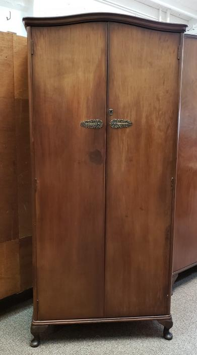 Item #R1007 Vintage English Walnut Robe c.1940s