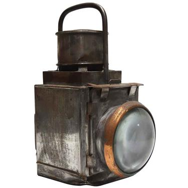 Antique Copper & Tin Hand Held Port – Starboard Light