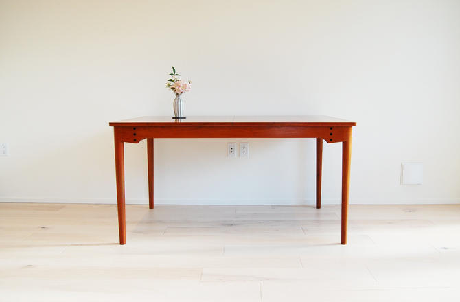 Danish Modern Finn Juhl Teak Dining Table with Two Extensions by MidCentury55