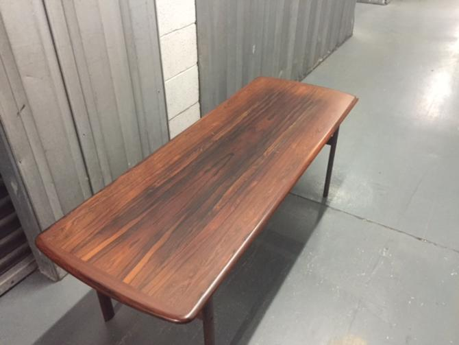 Long Danish Rosewood MCM Coffee Table by Jesper