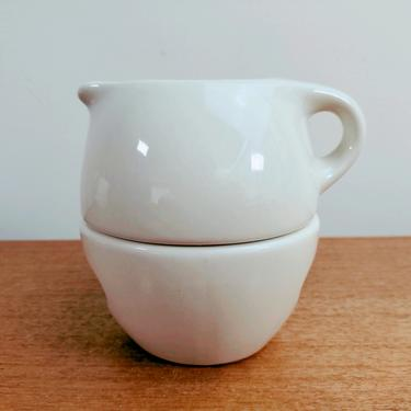 Oneida Russel Wright | Stacking Creamer and Sugar | Iroquois | Linen by TheFeatheredCurator