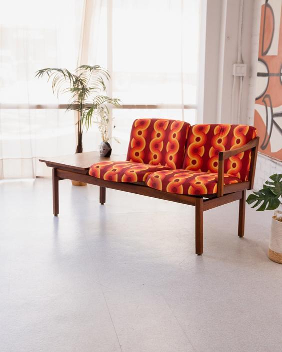 Danish Modern Sofa Bench