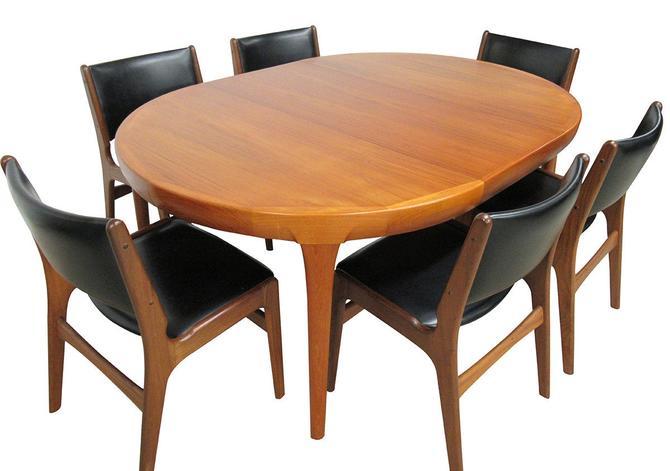 Mid Century Dining Set by Kofod Larsen for Faarup Mobelfabrik by SputnikFurnitureLLC
