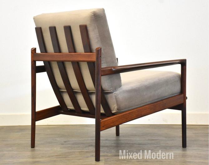 In Kofod Larsen for Selig Rosewood Lounge Chair by mixedmodern1
