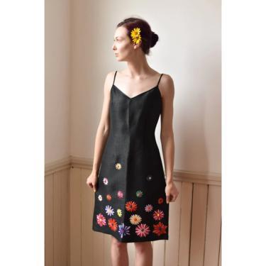 Y2K | Moschino Jeans | Textured Sundress with Raffia Flowers by LadyofLizard