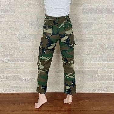 Camouflage High Rise Slim Fit Pants / Size 22 23 XXS by NoteworthyGarments