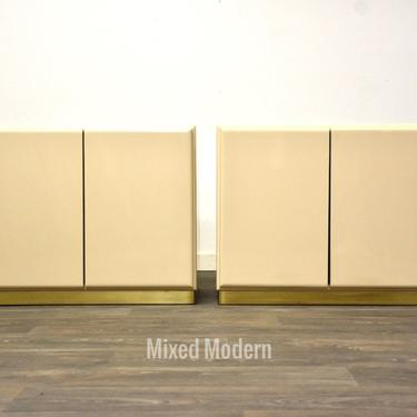 Vintage Thayer Coggin Ivory Cabinets by Milo Baughman by mixedmodern1