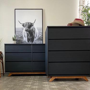 Vintage Mid Century Modern Bedroom Set Dresser Chest by Thomasville *Local Pick Up Only by BluePoppyFurniture