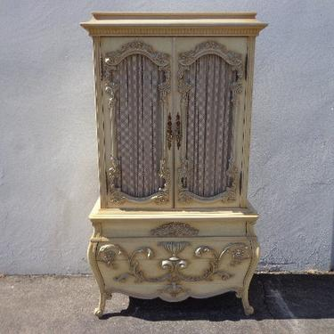 Antique French Provincial Dresser Armoire Rococo Baroque Chest Drawers Shabby Chic Bedroom Set Storage CUSTOM PAINT AVAIL by DejaVuDecors