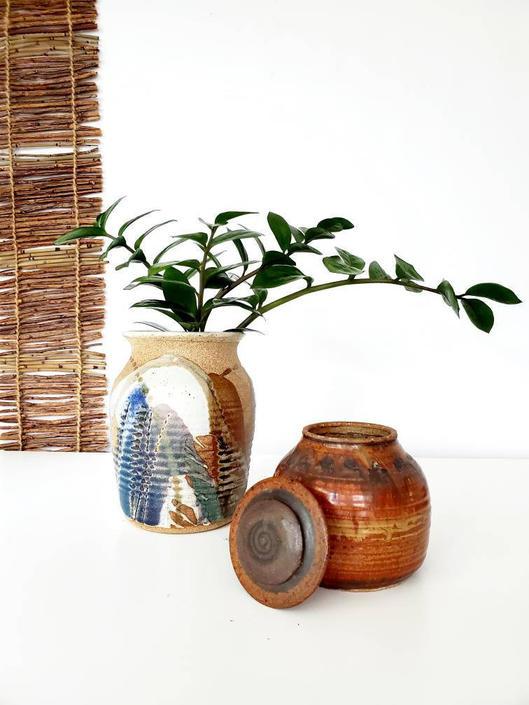 Vintage 70's Studio Pottery Starter Set by pennyportland