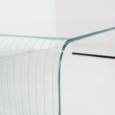 Waterfall Glass Coffee Table by BetsuStudio