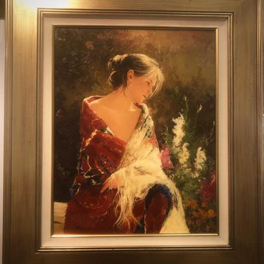 SERENITY- Artist signed Original art Giclee by Roman Francis collectors painting number 24 of 49