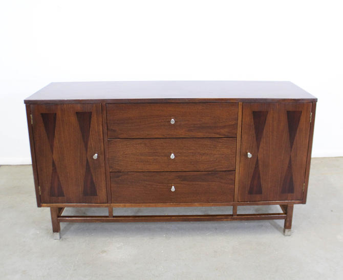 Mid-Century Danish Modern H. Paul Browning Stanley Petite Walnut Credenza by AnnexMarketplace