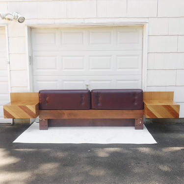 Vintage Modern King Size Headboard and Nightstands by Rougier by secondhandstory
