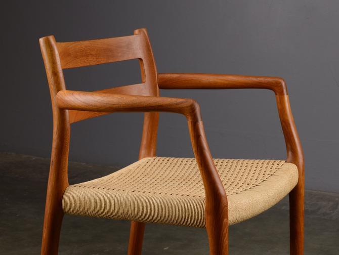 Mid Century Armchair Moller 67 Danish Modern Teak Dining Chair by MadsenModern