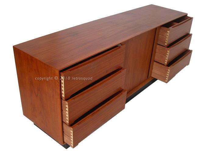 "LARGE High Quality 75"" Long Teak Danish Modern Dresser / Credenza By Dyrlund HQ - Torring, Kibaek by RetroSquad"
