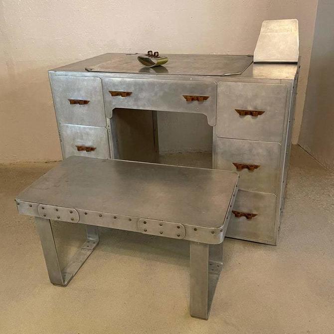 WPA Industrial Aluminum Artisan 5 Piece Desk Set