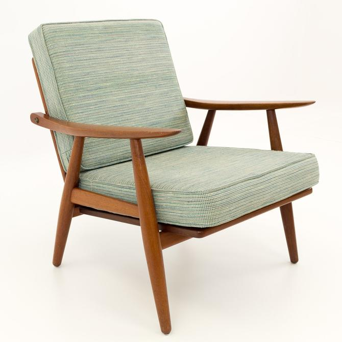 Hans Wegner for Getama GE-270 Danish Teak Mid Century Modern Lounge Chair - mcm by ModernHill