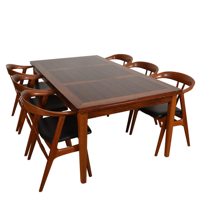 Large Danish Rosewood Rectangular Expanding Dining Table