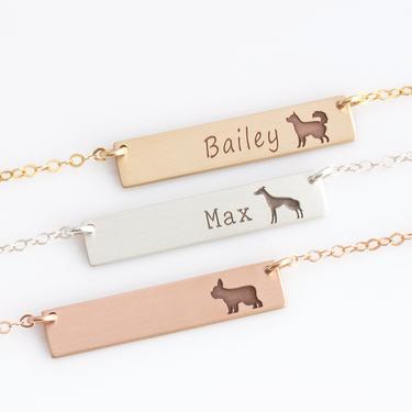 Custom Dog Lover Necklace, Dog Mom Necklace, Pet Lover Jewelry, Labrador, Golden Retriever, French Bulldog, Beagle, Yorkie Jewelry by LEILAjewelryshop