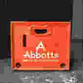 Abbotts Milk Crate ORANGE Advertising Graphic Design Typography Vinyl Record LP Storage Vintage Mid-Century Relic by BrainWashington