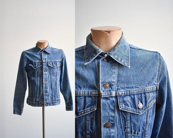 Vintage Plain Pockets Medium Wash Denim Jacket by milkandice