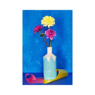 Still Life With Dahlias: Fine Art Photography, Floral Print, Modern Art, Decorative Art, Dahlias by DesireePfeifferPhoto