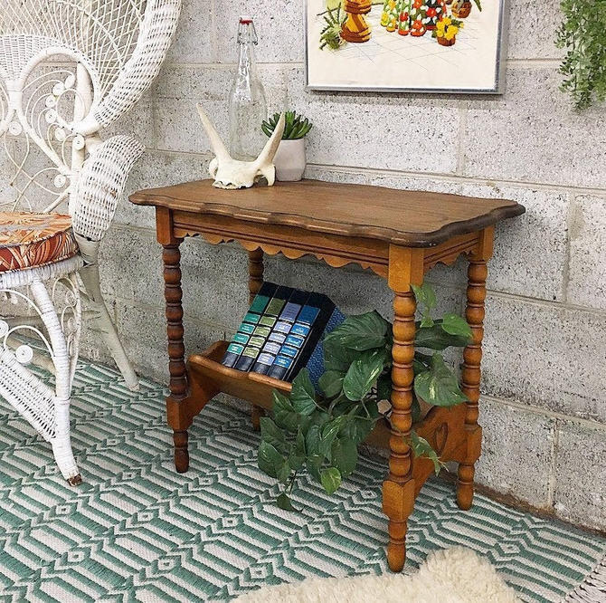 LOCAL PICKUP ONLY ------------- Vintage End Table by RetrospectVintage215