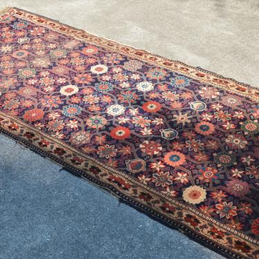 """Vintage Hand Knotted Distressed Persian Style Malayer Floral Rug  -  3' 4"""" x  7' 10"""" by SourcedModern"""